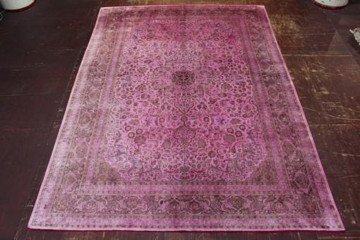 Exclusiv Seiden Vintage Edel Pink Perserteppich  Orientteppich 3,76 X 2,65