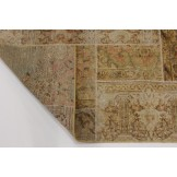 Modern Patchwork Stone Wash Used Look Perser Teppich 2,06 X 1,56