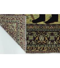 Antik Shah Ahmad Isfahan Teppich