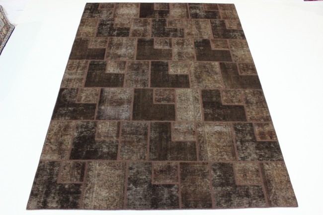 Extremely Exclusiv Patchwork fein Perser Teppich 3,50 X 2,50 250 x 350cm  BX08